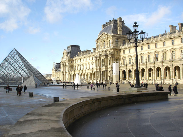 The Louvre with Glass Pyramid