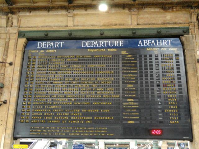 Paris Train Schedule