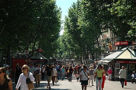 Barcelona Rambla in Spring